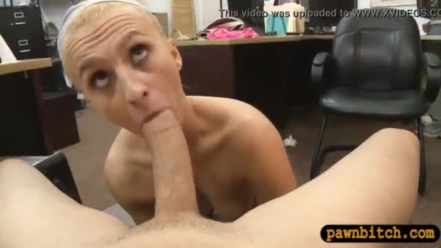 Slim blonde babe smashed by pawn dude at the pawnshop