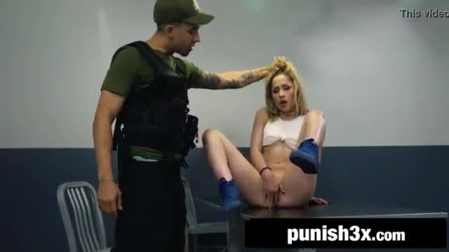 Tiny Latina Goldie Glock Gets Slapped And Bound Hard